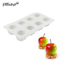 molde de maçã de silicone venda por atacado-Filebike novo 8 mesmo fruit apple pattern moldes mousse diy molde de cozimento silicone sugar cake moldes ferramentas de cozimento