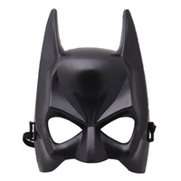 Wholesale batman costumes for sale - Super Hero Halloween Half Face Batman Mask Black Masquerade Dressing Party Masks Cosplay Costume Festive Supplies