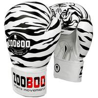 guantes de tigre al por mayor-Envío gratis zooboo adultos de alta calidad pateando patrón de tigre guante de boxeo mma lucha guantes de boxeo guantes