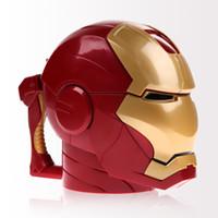 ojos de hombre de hierro al por mayor-Nuevo Drinkware Accesorios de cocina Iron Man 3d Water Cup Black Eyes Abs Plastic High Quality Kitchen Drinkware Tazas para niños Regalo de cumpleaños