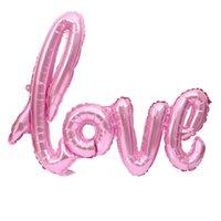 ingrosso lettera alfabeto giocattolo-Palloncini Giocattolo AMORE Alfabeto Mongolfiere Festa di compleanno Decorazione di cerimonia nuziale Palloncino di alluminio Mylar Palloncini di grandi lettere FAI DA TE 108 * 64 cm