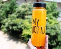 дизайн бутылки с водой оптовых-Моя бутылка воды бутылка простой стиль творческий дизайн специальные пластиковые спортивные бутылки воды посуда с мешком Бесплатная доставка