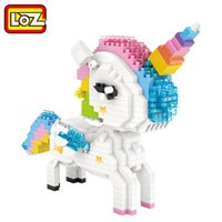 Wholesale toy animal educational online - LOZ Diamond Blocks Rainbow Unicorn Pink Rabbit Colorful Cartoon Animals Figure Educational Toys for Children DIY