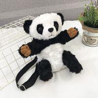 grandes mochilas de peluche al por mayor-Big head Plush panda mochila PERSONALIZED creative mochila ocio arte solo bolso de hombro