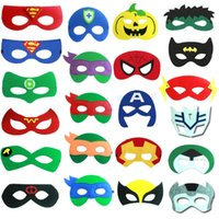 Wholesale Masks Custom - 200 Kinds Of Superhero Mask Custom Mask Fancy Halloween And Christmas Etc Festival Supplies Half Face Multi Styles Felt Dacron Mask
