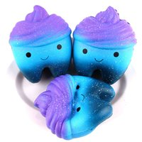 Wholesale photos animal online - Creative Starry Tooth Cake Squishy Decompression Toys Squishies Slow Rebound Hand Squeeze Toy Photography Photo Props sh CR