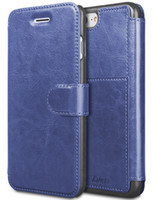 ingrosso plastica fessura della carta del iphone-Custodia a portafoglio in pelle per iPhone 6 8 7 Plus con fessura per carte Custodia in metallo resistente magnetica slim fit con custodia in plastica