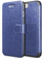 ranura tarjeta de plástico al por mayor-Para iPhone 6 8 7 Plus Estuche de cuero con ranura para tarjetas Metálica Magnético Estuche de plástico resistente TAKEN