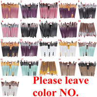 kits de herramientas al por mayor-20 Unids Maquillaje Cosmético Pinceles Set Powder Foundation Eyeliner Eyeliner Lip Brush Tool Marca Maquillaje Pinceles herramientas de belleza pincel maquiagem