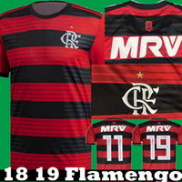 Wholesale e packet - Free E packet to Brazil New 2018 2019 CR Flamengo Home Red GUERRERO DIGEO VINICIUS JR Soccer Jerseys 2019 Camisetas Away Football shirts