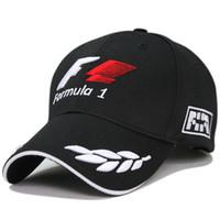 fórmula f1 venda por atacado-Preto Racing Cap Fórmula 1 Letras Bordadas Trigo Fórmula F1 Cap Golf Snapback Boné de Beisebol Casquette Esportes Ao Ar Livre