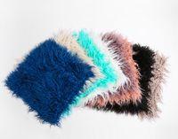 peles de peles de ovelha venda por atacado-45 * 45 cm Mongolian Lamb Fur Lance Capa de Almofada de pelúcia Fronha multi cor Pele de Ovelha Lã Capa de Almofada para o Sofá Quarto carro
