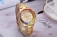Wholesale Man Sexy Christmas - A piece lot Fashion Luxury Man Women leather Watch Famous designer Stainless Steel Sexy Lady Watch High Quality Famous Brand Quartz Clock