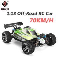 4wd drift venda por atacado-Wltoys A959B 1:18 Carro RC 2.4G 4WD 70KM / H de Alta Velocidade Controle Remoto Controle Remoto de Rádio De Controle Remoto Buggy Carro Voiture Telecommande