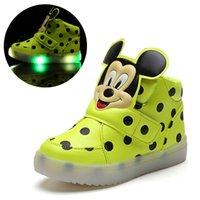 botas led unisex al por mayor-2018 Parche de goma LED zapatos bebé LED iluminado unisex zapatos de bebé de alta calidad durante toda la temporada niñas niños calzado excelente botas