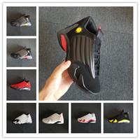 ingrosso la scarpa dura-Commercio all'ingrosso 14 XIV BRED ULTIMO SHOT DESERT SABBIA uomini scarpe da basket scarpe da ginnastica sportive sneakers donna outdoor di alta qualità formato 36-47