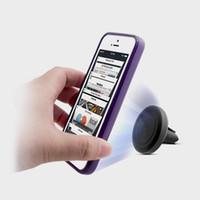 мобильный стенд маленький оптовых-Универсальный автомобильный магнитный воздухоотводчик держатель подставка F мобильный телефон
