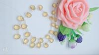 ingrosso perline di acqua rosa-Articolo 5 i prodotti semilavorati in cristallo naturale trasparente giallo con gocce d'acqua a ventaglio per realizzare orecchini collane accessori