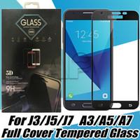 Wholesale Iphone Hard Screen Protector - Full Cover Tempered Glass For Iphone X Samsung J7 J5 Prime J3 Emerge Huawei Mate P20 P10 Lite Nova Hard Edge Screen Protector