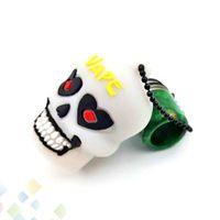 ingrosso tappi di cranio in plastica-Skull Resin Drip Tips 810 Proof Dusttip Driptip Antipolvere Plastic Silicone Cap Bocchino per Vape 810 Tanks TFV12 TFV8 DHL Free