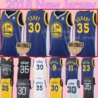 Wholesale draymond green - 2018 Finals 35 Kevin Durant 30 Stephen Curry Jersey Men's 23 Draymond Green 9 Andre lguodala 11 Klay Thompson Basketball Jerseys Warriors