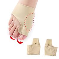 ortopedik ayak bunyonu toptan satış-Genkent 2 ADET Jel Koruma Kol Silikon Toes Ayırıcı Ayak Bunyon Pedikür Ortopedik Halluks Valgus Düzeltme için Destek