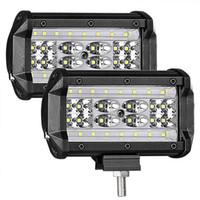 kapalı yol yeri toptan satış-LED Bakla, 2 Adet 5 '' 168 W QUAD Satır LED Işık Bar Nokta Taşkın Combo Işın Off road Sürüş Sis farları Su Geçirmez LED Küpleri Kamyon için Çalışma Işığı