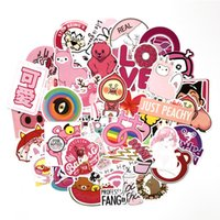 Wholesale fun toys for girls for sale - Group buy 50 PVC Waterproof Pink Girls Fun Sticker Toys Luggage Stickers For Moto Car Suitcase Cool Fashion Laptop stickers Gift