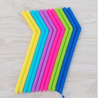 Wholesale Straw Suction - Silicone Straws Eco Reusable for 30.0oz Tumblers Drinking Straw for Mugs Silicone Reusable Straw Suction Pipe Tableware KKA4361