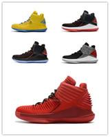 Wholesale golden speed - 2018 Mvp 32 Low PF UNC 32s XXXII Basketball Shoes Mens 32 Flights Speed 3M Black Grey Golden Crack size 7-11