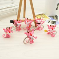 Wholesale doll photo boy resale online - Cartoon Cartoon Lovable Dalang Pink Leopard Naughty Leopard d Doll Key Chain Pendant Small Gifts