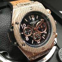 Wholesale Branding Process - HUBT LOGO brand Men Watches 50mm The classic Lassa process 6 pin run seconds fashion luxury Watches clock Relogio QUARTZ movement wristwatch