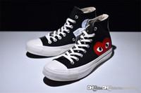 Wholesale high hide - 2018 Come CDG des GARÇONS PLAY x Conv ChuckTaylor Hidden Heart High Top CDG Trainers Shoes Sneaker With Original box