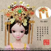 bonecas de joalharia venda por atacado-Headwear Hairpin Passo agitar Chinês Antigo Traje Jóias Handmade Cocar de Metal para KURHN OB27 Bjd Boneca Acessórios Brinquedos