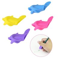 Wholesale good gifts for girls online - Student Pen Holder Safe Silicone Lovely Small Fish Shape Good Pen Grip Position Gift For Children Healthy Learning mc W
