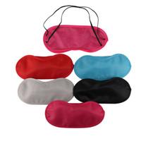 máscara de olho profissional venda por atacado-Popular Máscara de Olho Sombra Nap Cover Venda de Viagem Descanso Profissional Cuidados de Saúde Da Pele Tratamento Sono Variedade Opções de Cores