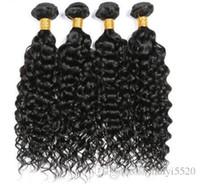 doğal renk brezilya kıvırcık saç toptan satış-Kadın Moda Kinky Kıvırcık Demetleri Brezilyalı Saç Dokuma% 100% Olmayan Remy Saç Uzantıları Doğal Renk ücretsiz kargo