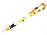 longes mignons achat en gros de-Livraison gratuite Van Gogh Sunflowers Premium Lanyard Lanyards / Lanyard pour femmes / Badge Clips Porte-badge nominatif Porte-carte d'identité mignon avec porte-clés