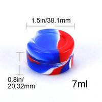 Wholesale silicone stick dab jars resale online - Nonstick Wax Containers silicone box ml Silicon container Non stick food grade wax jars dab storage dabber jar oil holder tank