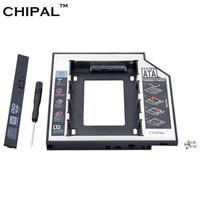 "Wholesale 2nd caddy - CHIPAL Universal SATA 3.0 2nd HDD Caddy 12.7mm for 2.5"" 1TB SSD HDD Case Enclosure + LED Indicator for Notebook CD-ROM DVD-ROM"