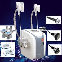 Wholesale fat system machine - 40K Cavitation Ultrasonic rf slimming treatment Machine Fast fat freeze Slimming System body shap machines 2 fat freeze handle work together