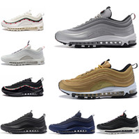 Wholesale art bullets for sale - 2019 Running Shoes OG Gold Silver Bullet Triple White Black Mens womens Trainer Sports Sneakers Size