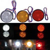 Wholesale cars motorbike online - 12V Round Car Motorcycle Motorbike Rear LED Tail Light Brake Turn Signal Indicators