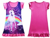 Wholesale dresses for babies toddlers for sale - Group buy Unicorn Medium Length Skirt for Girls Baby Kids Girls Cartoon Length Skirt Girl Toddlers Nightgowns Dress EEA39