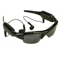 videograbadora dvr espía al por mayor-ET Cámara inalámbrica con Bluetooth Gafas de sol Soporte TF Manos libres HD Deporte DV Grabador de video Gafas inteligentes Videocámara con auriculares