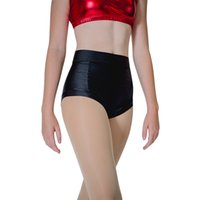 pantalon de danse en nylon achat en gros de-Danseur's Choices Womens Pole Dancing Short en nylon noir Lycra Pantalon chaud Yoga Roller Derby Beach Dancewear