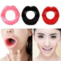 Wholesale lip massager for sale - Silicone Rubber Face Slimmer Face lift Massage Facial Massager Lip Muscle Trainer Tightener Maquiagem Face Care CCA10149