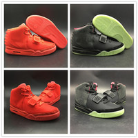 Wholesale kanye west red octobers online - Upper SP NRG Red October Basketball Shoe Kanye West Glow Dark NRG II Mens New Fashion Athletic Sport Sneaker