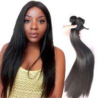 ingrosso estensioni naturali dei capelli donna-8a visone estensioni dei capelli trame capelli umani brasiliani non trasformati capelli setosi tessuto dritto capelli 8-30 colore naturale per le donne