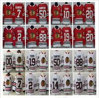 Men Women Kids Chicago Blackhawks Duncan Keith 20 Brandon Saad 12 Alex  DeBrincat 88 Patrick Kane 00 Clark Griswold Red White Jerseys S-3XL 183c4a216
